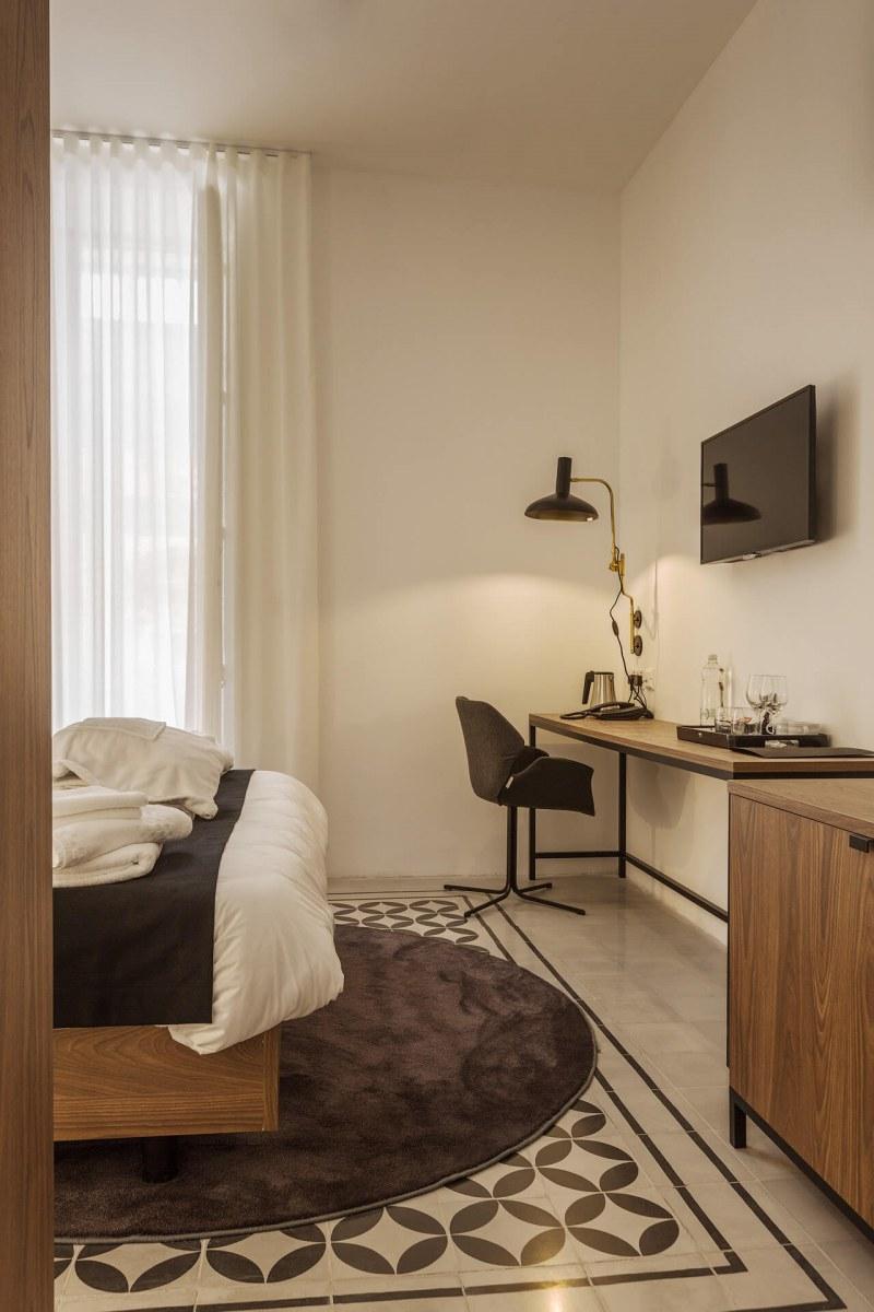 Merchant Suites , Halmann Vella, Patterned tiles, Marble