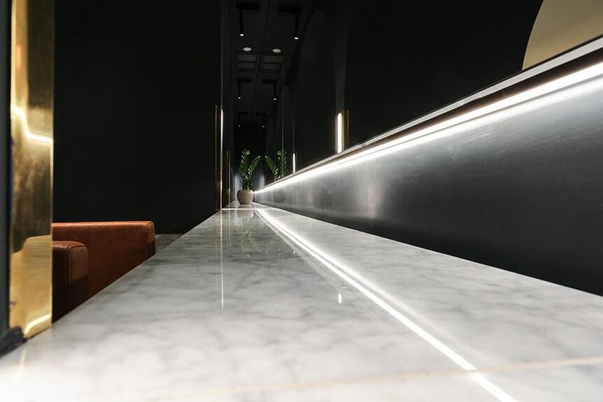 Dean Gera, Halmann Vella, marble, countertops, Calacatta, Hairdressing