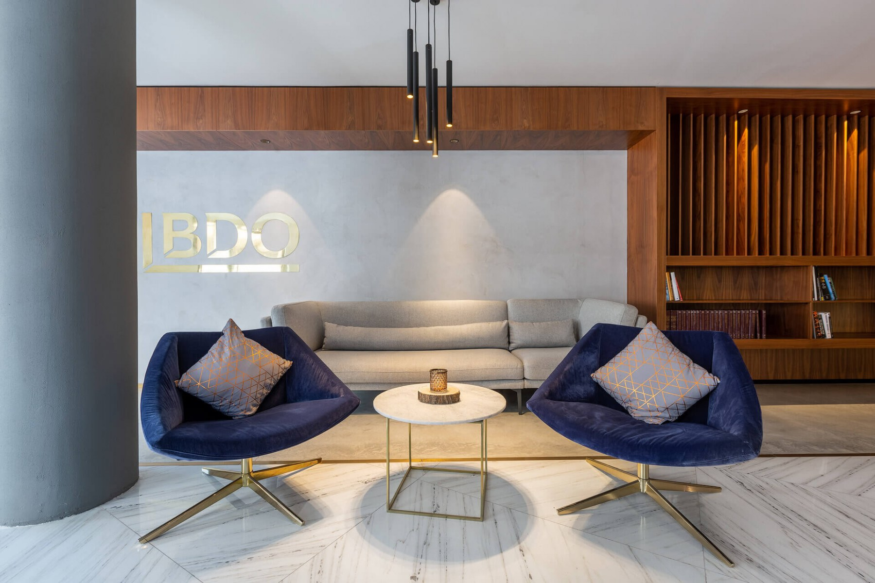 BDO Malta Offices flooring in Colorado Gold Marble