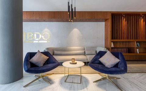BDO Malta Offices flooring in Colorado Gold Marble
