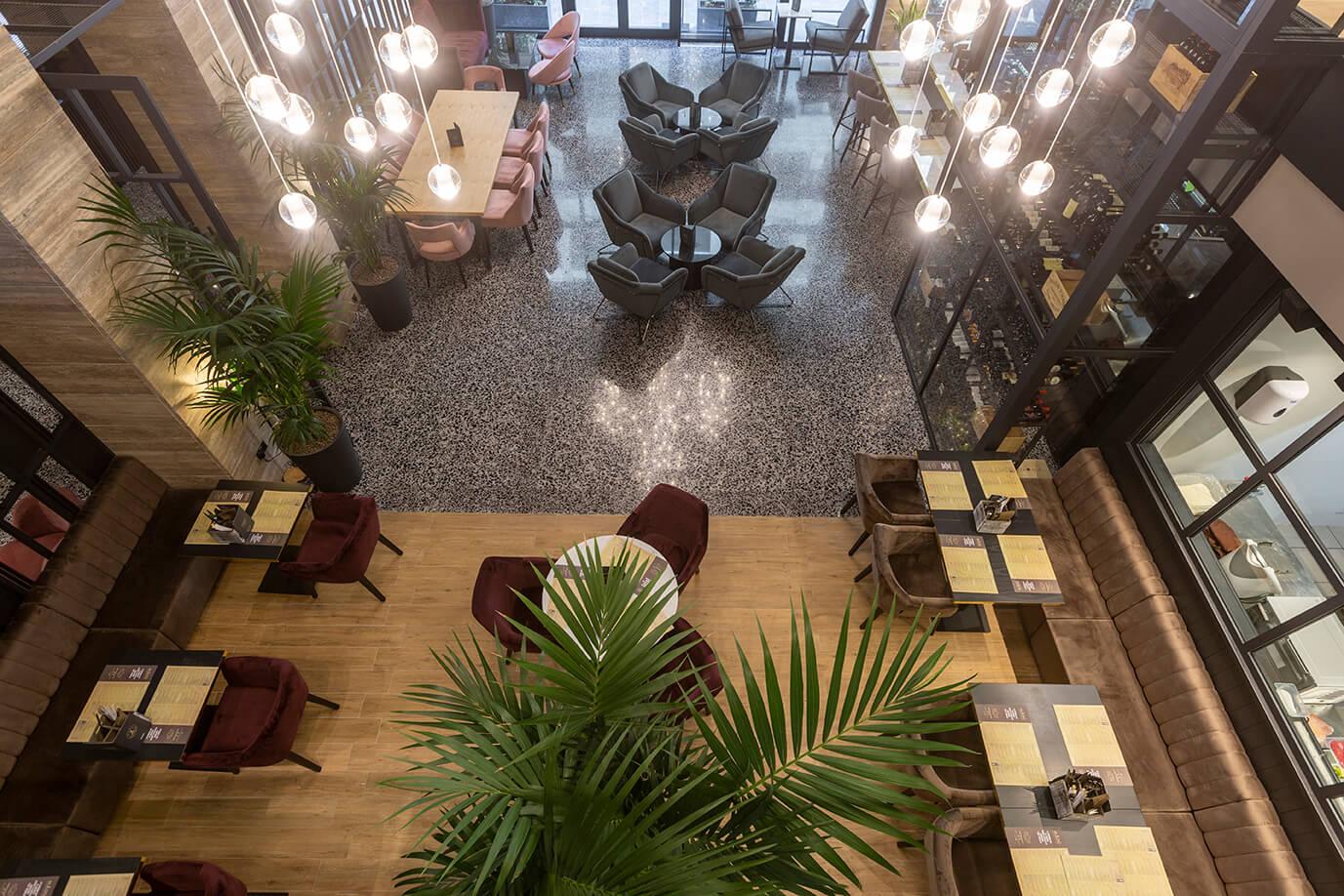 01 urban hotel – halmannvella – architectural terrazzo – black tiles