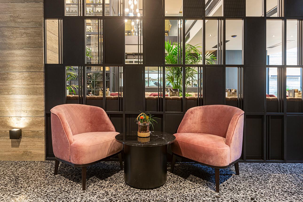 02 urban hotel – halmannvella – architectural terrazzo – black tiles
