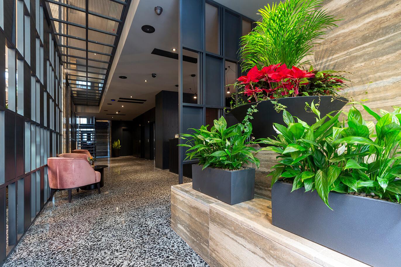 04 urban hotel – halmannvella – architectural terrazzo – black tiles