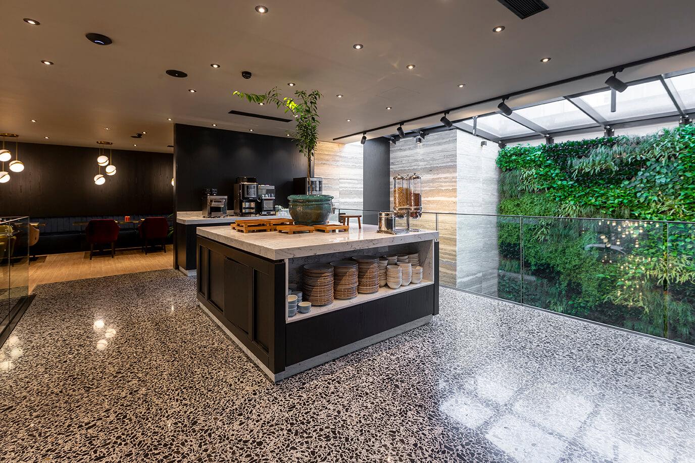 11 urban hotel – halmannvella – architectural terrazzo – black tiles