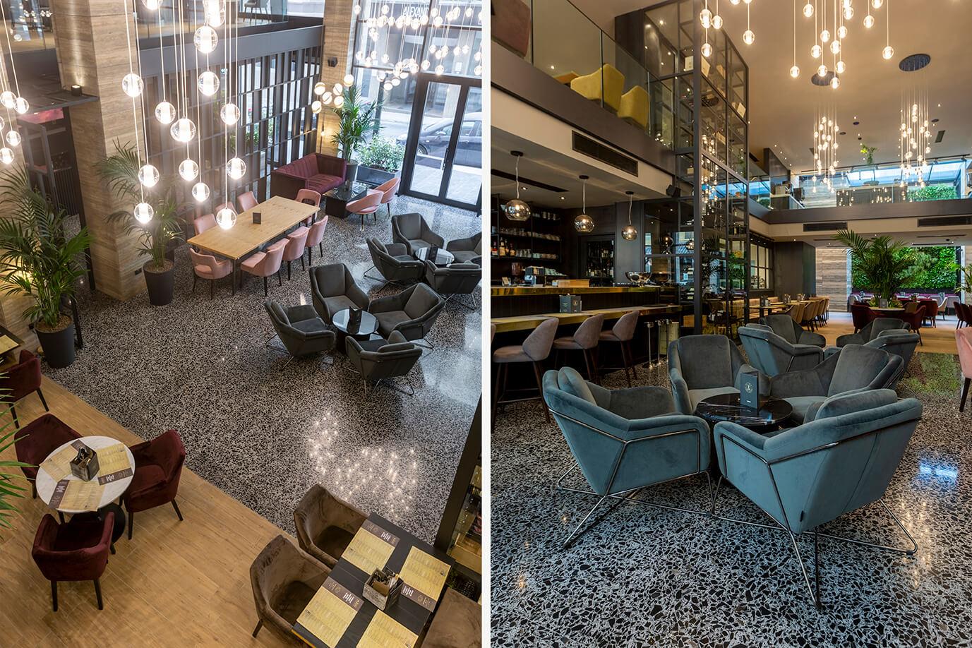 14 urban hotel – halmannvella – architectural terrazzo – black tiles