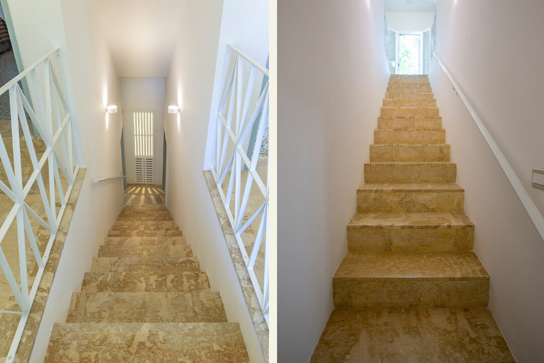 travertine silver stairs halmannvella