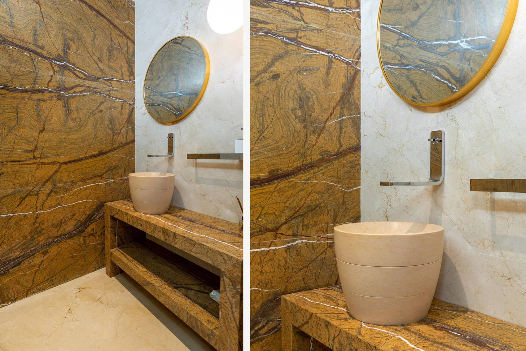 010 bathroom-halmaannvella-Crema Marfil Rain forest brown marble